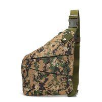 Caça ao ar livre Caminhando Bolsa de peito Armazenamento Tático Armazenamento Armazenamento Multifuncional Anti-Theft Crossbody Bags