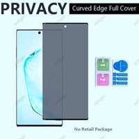 Privacy Anti-glare anti-spy 5D Curved Full screen protectors Cover Tempered Glass For Samsung S21 S21Plus S21Ultra Note 20 S20 Ultra Plus S10 S8 S9 Note10 Note8 note9