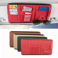 Bilarrangör Multi-Purpose Sun Visor Point Pocket Card Storage CD-hållare påse