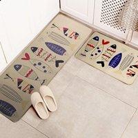 Антитужная кухня Кухонный коврик Comfort Постоятельные коврики Водонепроницаемые коврики Набор 2 шт. Нескользящие для крытых на открытом воздухе Est Crows