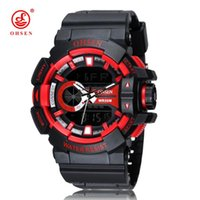 Brand Digital Quartz Mens Outdoor Sport Wristwatch Rubber Band 50M Diving Red LCD Waterproof Watches Male Relogios Gift Wristwatches