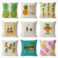 Cushion Decorative Pillow Pineapple Fruit Pattern Cushion Cover Polyester Throw Car Home Decor Decoration Sofa Bed Decorative Pillowcase