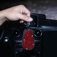 Interior Decorations 2021 Diamond Auto Key Case Car Holder Shell Remote Cover Car-Styling Keychain Bling Accesorios Para Carro For Woman Sty