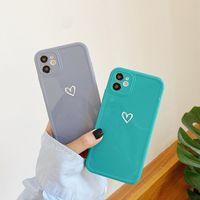 حالات الهاتف لآيفون 12 11 برو ماكس XS XR 7 8 الحب القلب لامعة التسامي الغطاء الواقي