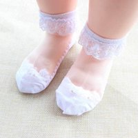 Socks 2021 Children's Summer Ultra-Thin Cotton Breathable Stockings For Baby Girls Lace Dropship