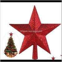 Decorações nicexmas 459 polegadas tesouros decoração ouro vermelho brilho mini estrela árvore de natal topper wmtdbt sgtuj b5fkg