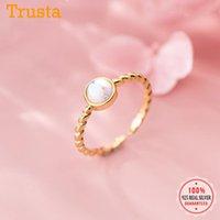 Cluster Rings Trustdavis Echtes 925 Sterling Silber Süße Twist farbige Glasur offene Fingerring sizrable Für Frauen Hochzeit Schmuck Geschenk DS19