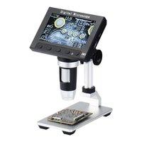 Camera's 4.3 inch LCD-scherm Metalen standaard 5MP 1080P USB Microscoop CMOS Handheld Endoscope