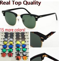 Designer mens women sunglasses club sun uv protection glass lenses with black or brown leather case, all retailing packages 3016
