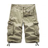 Pantaloncini da uomo Multi-tasca da uomo Pantaloncini rilassati Adatta per esterni allentati Camouflage Casual Retro Basic Big Size Big Size Lavato Cotton Moto Pantaloni Pantaloni 083