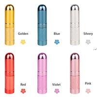 6ml mini Bullet Bottle Spray Aluminum Tube Empty Bottle Cosmetic Dispenser Portable Small Bottle HHE9863