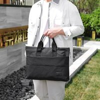 Solid Mens Casual Briefcases Business Handbag Portable Notebook Computer Fashion Travel Laptop Bags Nylon Male Utuxr