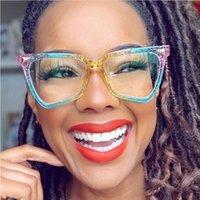 Nouveaux lunettes de soleil chat femmes de luxe de luxe cadre cadre transparent gradient lunettes de soleil femelle oculos de sol féminino 10pcs 9 couleurs