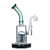 10inch Glass beaker Bongs 8 Arms Tree Percolator honeycomb Dab Oil Rigs Bubbler Water Pipes With club Banger skull oil burner pipes