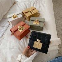 chain women's bag 2021 new fashion stone Pu One Shoulder Messenger Mini bags