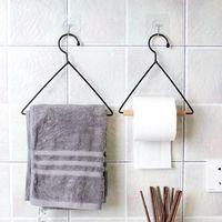 Towel Racks VOGVIGO Holder Multi-function Hanger Paper Rack Hardware Bar Rag Scarf Hanging Bathroom Kitchen Accessories
