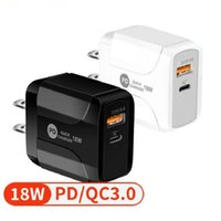 New 18W QC3. 0 Fast Quick PD Type c wall charger plug For Iph...
