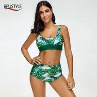 Kadın Mayo Bfustyle Baskı Mayo 2021 Yaz Kadın İki Adet Bikini Set Yastıklı Push Up Dropship