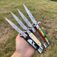 Zalecane! Wysokiej jakości oryginalny nóż automatyczny 440C łopatka / uchwyt drewna Wycieczkować Wspinaczka Survival EDC Multi-Tool