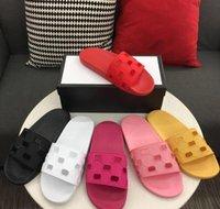 Homens Mulheres Sandálias Designer Sapatos de Luxo Slide Slide Summer Fashion Flat Slippery com sandálias espessas chinelo flip flops tamanho 36-45