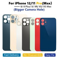 OEM Big Hole Back Glass Housings For iPhone 13 8 8Plus X XR XS 11 12 Pro MAX Battery Rear Cover Housing