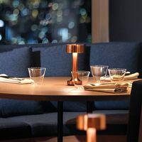 Lampada da tavolo a LED ricaricabile Lampada da tavolo Touch Sensor Bar Light Portable Vintage Night Lights Comodino Caffè Ristorante Ristorante Ristorante