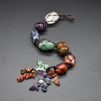 Sunligoo 7 Chakra censor de piedras preciosas de gem, meditación espiritual, colgando / ventana / feng shui ornamento piedras naturales coches / decoración del hogar 913 r2