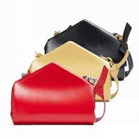 Luxury handbags 2021 new Bottega triangle leather shoulder clip underarm women's chain Ysj