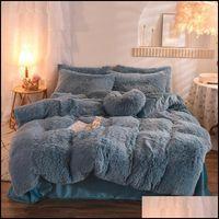 Supplies Textiles Home & Gardensoft Plush Bedding Sets 4 Pcs King Queen Size Luxury Quilt Er 2 Pillow Case Duvet Bed Comforters Ers Drop Del