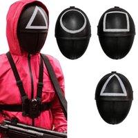 イカゲームマスク2021テレビコスプレパーティーフォレオンマスク怖いヘルメットアクセサリー繊細なハロウィーンマスカレード小道具マスク