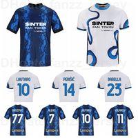 2021-22 Inter Milan Soccer Jersey 10 Lautaro 77 Brozovic 14 Perisic 19 Correa 13 Ranocchia 22 Vidal 20 Calhanoglu 5 Gagliardini 12 Sensi Alexis Football Kits