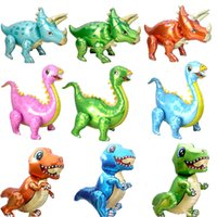 2021 new Large 4D Walking Dinosaur Foil Balloon Boy Animal Balloon Children Dinosaur Birthday Party Forest Party Decoration Balloon