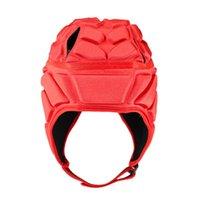Cycling Helmets Men Women Goalkeeper Helmet Head Guard Scrum Cap Goalie Rugby Sports Professional Football Soccer Wear Resistant Roller Hat
