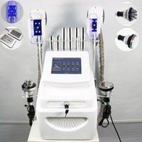 4 in 1 Fat Freezing Cryolipolysis Machine 바디 슬리밍 Cryotherapy 초음파 40K Cavitation RF 지방 흡입 Lipo 레이저 진공 체중 감소