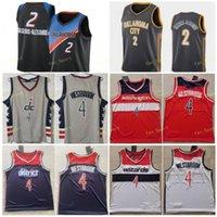 City Counted Edition Shai 2 Gilgeous-Alexander كرة السلة الفانيلة Bradley 3 Beal Russell 4 Westbrook الرجال مخيط حجم S-3XL