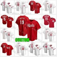 19 Joey Votto Jersey Reds 7 Eugenio Suárez Cincinnati Johnny Bench Suárez Pete Rose 11 Barry Larkin 15 Nick Senzel 54 Sonny Gray