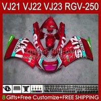 Cuerpo para Suzuki RGV-250 Panel RGV250 SAPC VJ22 RVG250 VJ 22 20HC.149 RGVT-250 90 91 92 93 94 95 96 RGVT RGV 250CC 250 CC 1990 1991 1992 1993 1994 1995 1996 Carreying Pearl Rojo