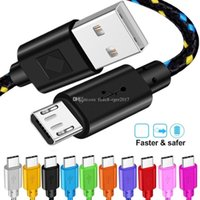 10 Colors 1M 2M 3M Fabric Nylon Micro USB Charger cables type c Cable For Samsung s6 s7 s8 xiaomi htc
