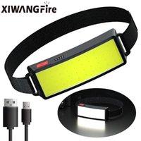 스타일 헤드 램프 휴대용 미니 COB LED 헤드 라이트 내장 배터리 USB 충전식 랜턴 토치 캠핑 램프 헤드 램프