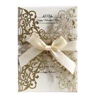 리본 인사말 카드 유럽 스타일의 약혼 반짝이 우아한 종이 커버 DIY 옥외 밖으로 초대 카드 파티 결혼식 홀리