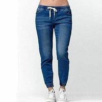 Women's Jeans SHZQ Casual Jogger Pants Elastic Sexy Skinny Pencil For Women Leggings High Waist Women's Denim Drawstring Pant