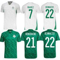 2021 2 звезды Африканская Кубок Алжир Футбол Футбол Детей Афкон Махерез Феггули Брахими Bounedjah Bouzza Algerie Джерси Футбольные рубашки