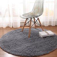 Carpets 120 X 120cm Fluffy Round Rug Carpet Classic Texture Creative Delicate Design Living Room Bedroom Soft Short Plush Mats