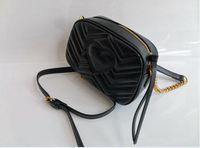 Totes à la mode Mini Main Chian Bandoulière Sac à bandoulière Femme Sacs à main en Cuir Femme Petite Round Messenger Sacs Purse Shopping Tote 21cm