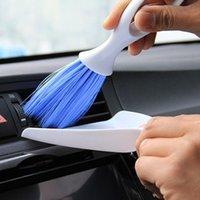 자동차 깨끗한 브러시 미니 빗자루 먼지 팬 세트 에어컨 벤트 슬릿 먼지 맹인 키보드 청소 세척기 스폰지