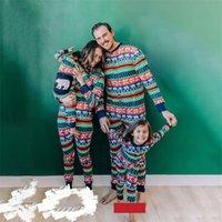 Christmas Family Matching Christmas Reindeer Trees Pajamas Romper Adults Baby clothes Kids Sleepwear Nightwear Pjs Tracksuit Sleepsuit