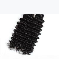 Extensões de cabelo virgens de ondas profundas Atacado barato 8a brasileiro cabelo wews 5bundos não processados cabelo humano pacotes peruanos indianas indianas