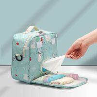 Borse da pannolini da pannolini Baby Bag Maternità Sacchetto di maternità per stampe di moda riutilizzabile monouso Stampe di moda bagnata Doppia maniglia Doppia Webags 23 * 22 * 10 cm