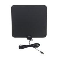 Leadzm S108 50 Meilen HD Digital Indoor TV Antenne Schwarz US-Stecker