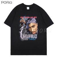 T-shirts Hommes Tupac 2Pac Noir Tshirt Shakur Hip Hop T Shirts Makaveli Rapper Notorious Big Young Young Young Thug Koba La J Cole HiPhop Rap Streetwear